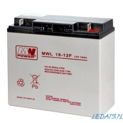 Akumulator MW Power MWL 18-12F (18Ah 12V)