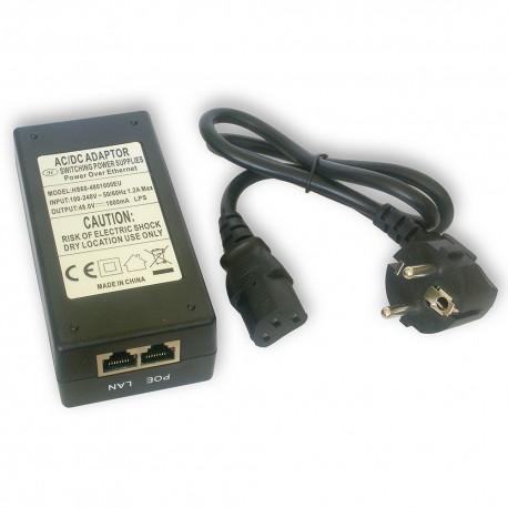 Zasilacz PoE 48V/1A desktop CCTV MT