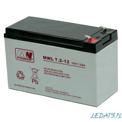 Akumulator MW Power MWL 7,2-12 (7,2Ah 12V)