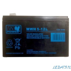 Akumulator MW Power MWH 5-12L (6Ah 12V)
