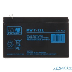 Akumulator MW Power MW 7-12L (7Ah 12V)