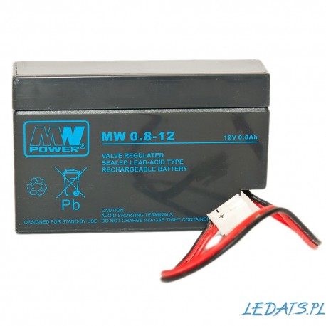 Akumulator MW Power MW 0,8-12 (0,8Ah 12V)