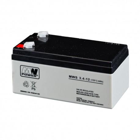 Akumulator MW Power MWS 3,4-12 (3,4Ah 12V)