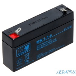 Akumulator MW Power MW 1,3-6 (1,3Ah 6V)