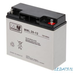 Akumulator MW Power MWL 20-12 (20Ah 12V)