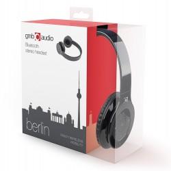 GEMBIRD słuchawki stereo Bluetooth z mikrofonem BERLIN czarne