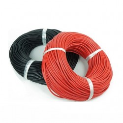SILICONE Wire 24 AWG BLACK