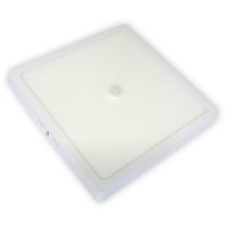 Plafon LED 24W / 230 V z czujnikiem ruchu PIR, kwadrat, natynkowy