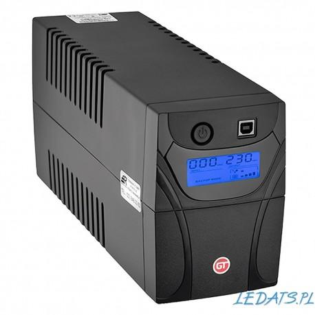 GT POWERbox UPS 650VA/360W 2x Schuko