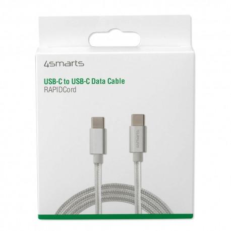 Kabel 4smarts USB-C – USB-C, 1m, biały oplot