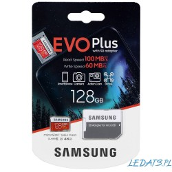 Karta pamięci microSDXC Samsung EVO Plus MB-MC128HA 128GB + Adapter
