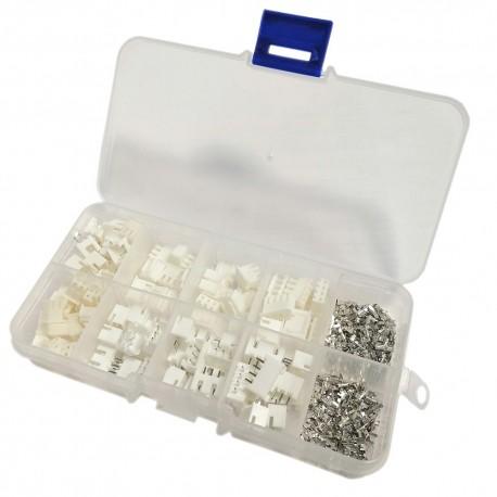 Zestaw złącz XH raster 2,54 mm (wtyki i gniazda) 2-3-4PIN