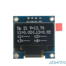 "OLED 1,3"" I2C SERIAL White Display Module"