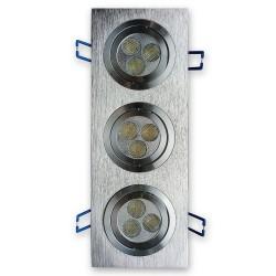 Lampa wpuszczana oprawa KWADRAT 3x3x1W