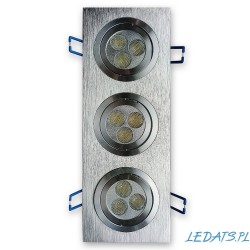 LED lighting fixtures inserted SQUARE 3x3W