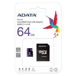 Karta ADATA 64GB microSDXC z adapterem