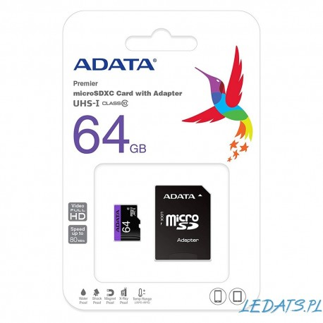 Karta ADATA 32GB microSDHC A1 V10