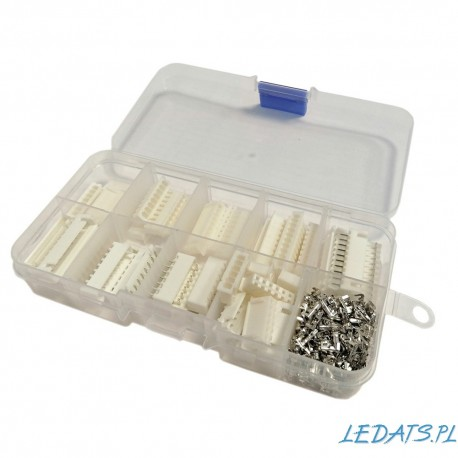 Zestaw złącz XH raster 2.54 mm (wtyki i gniazda) 6pin-10pin