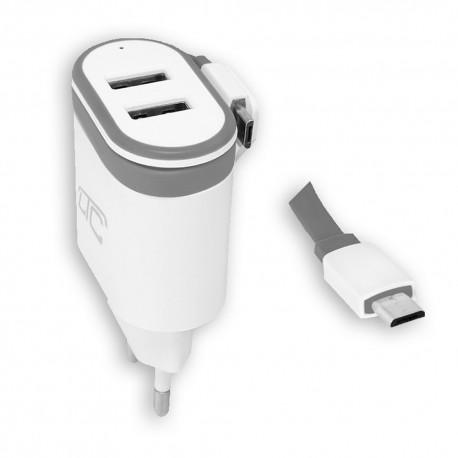 Ładowarka sieciowa LXG276 microUSB + 2x USB 2000 mA