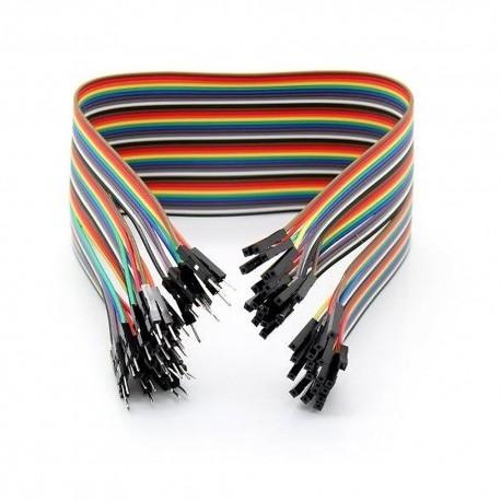 Kable połączeniowe męsko-żeńskie 30 cm, 40 sztuk