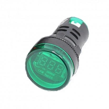 Woltomierz LED 28mm 6-48 V AC Zielony