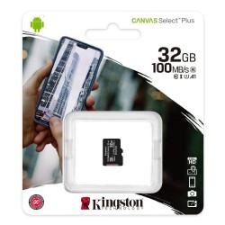Karta 32GB microSD Kingston Canvas Select Plus 100MB/s, A1