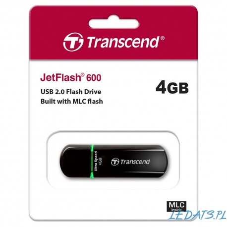 Transcend Pendrive 4GB JetFlash600, USB 2.0