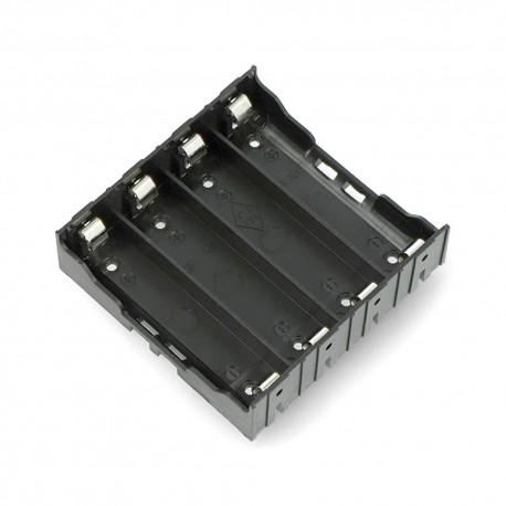 Koszyk na 4 baterie 18650 do PCB z blaszkami