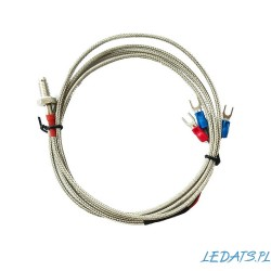 Czujnik temperatury PT100 0~450°C 3-przew. w metalowej osłonie o dł. 3m M6