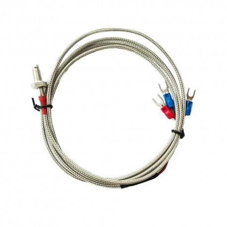 Czujnik temperatury PT1000 3 przewody w metalowej osłonie o długości 3m M6
